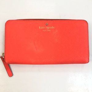 🍊KATE SPADE🍊NEON ORANGE WALLET